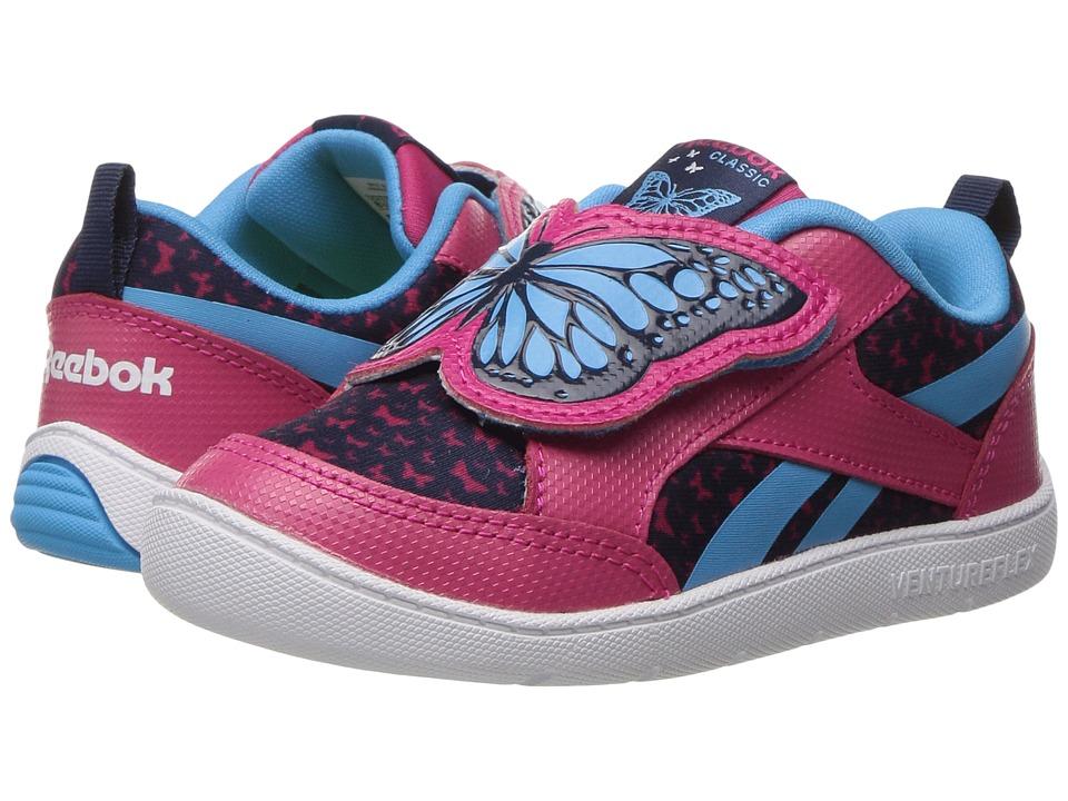Reebok Kids - Ventureflex Critter Feet (Toddler) (Pink Craze/Blue Beam/Collegiate Navy/White) Girls Shoes