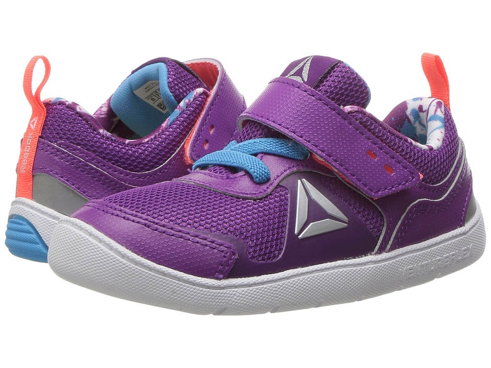 Reebok Kids - Ventureflex Stride 5.0 (Toddler) (Aubergine/Blue Beam/Vitamin C/White) Girls Shoes