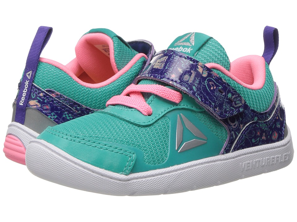 Reebok Kids - Ventureflex Stride 5 NAA (Toddler) (Timeless Teal/Team Purple/Peppy Pink/White) Girls Shoes
