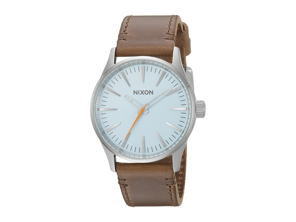 Nixon - The Sentry 38 Leather X The Speedster I Collection (Sky Blue/Taupe) Watches