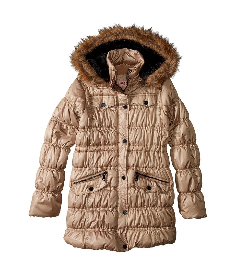 Urban Republic Kids - Pearlized Puffer Jacket (Little Kids/Big Kids) (Champagne) Girl's Coat