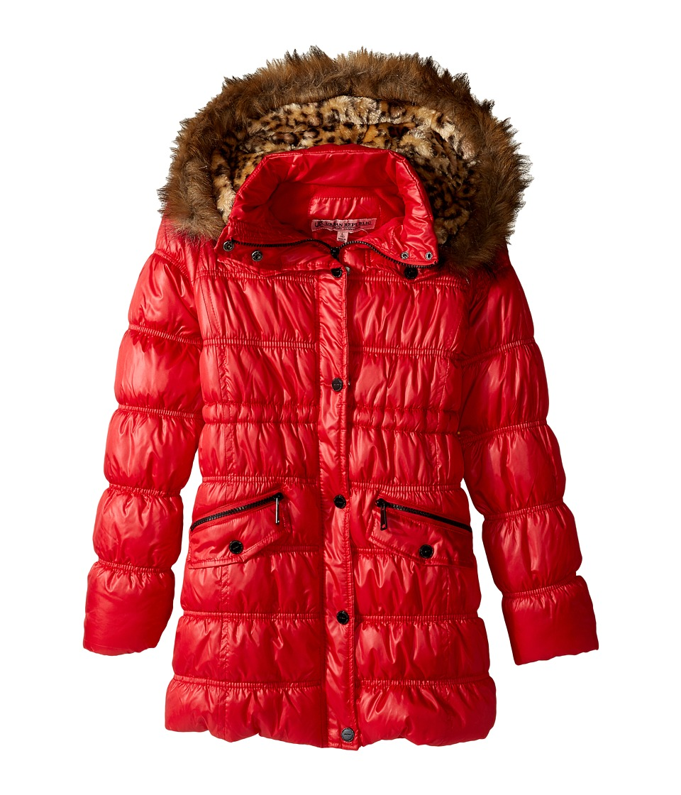 Urban Republic Kids - Pearlized Puffer Jacket (Little Kids/Big Kids) (Crimson Red) Girl's Coat