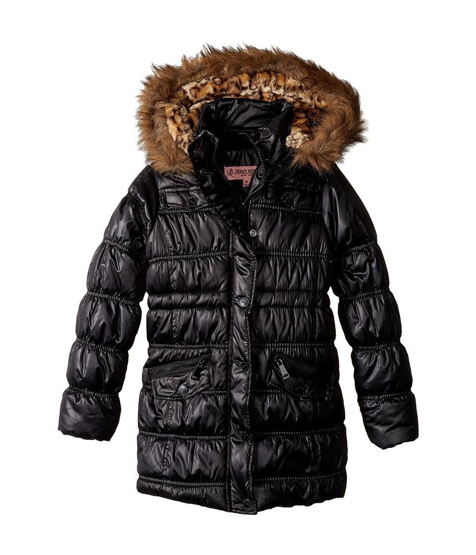 Urban Republic Kids Pearlized Puffer Jacket (Little Kids/Big Kids) (Black) Girl