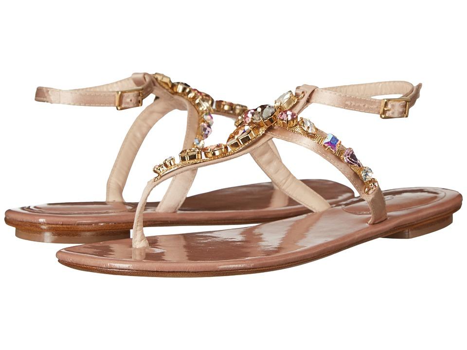 Oscar de la Renta - Louise (Nude Satin/Crystals) Women's Shoes