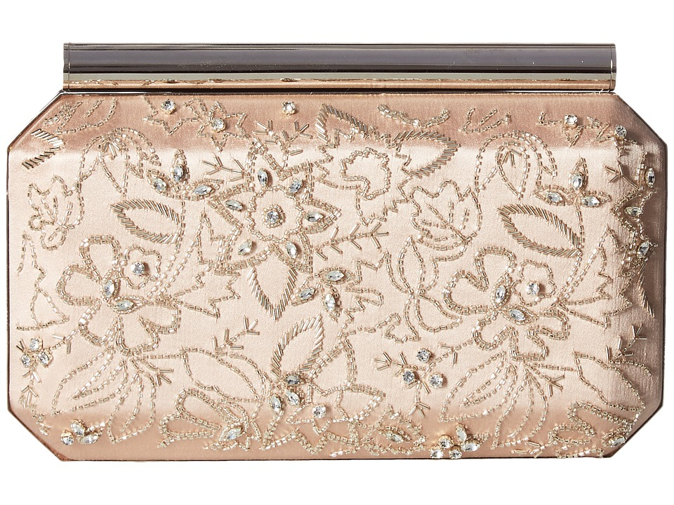 Oscar de la Renta - Saya (Nude/Silver Embroidered Satin) Handbags