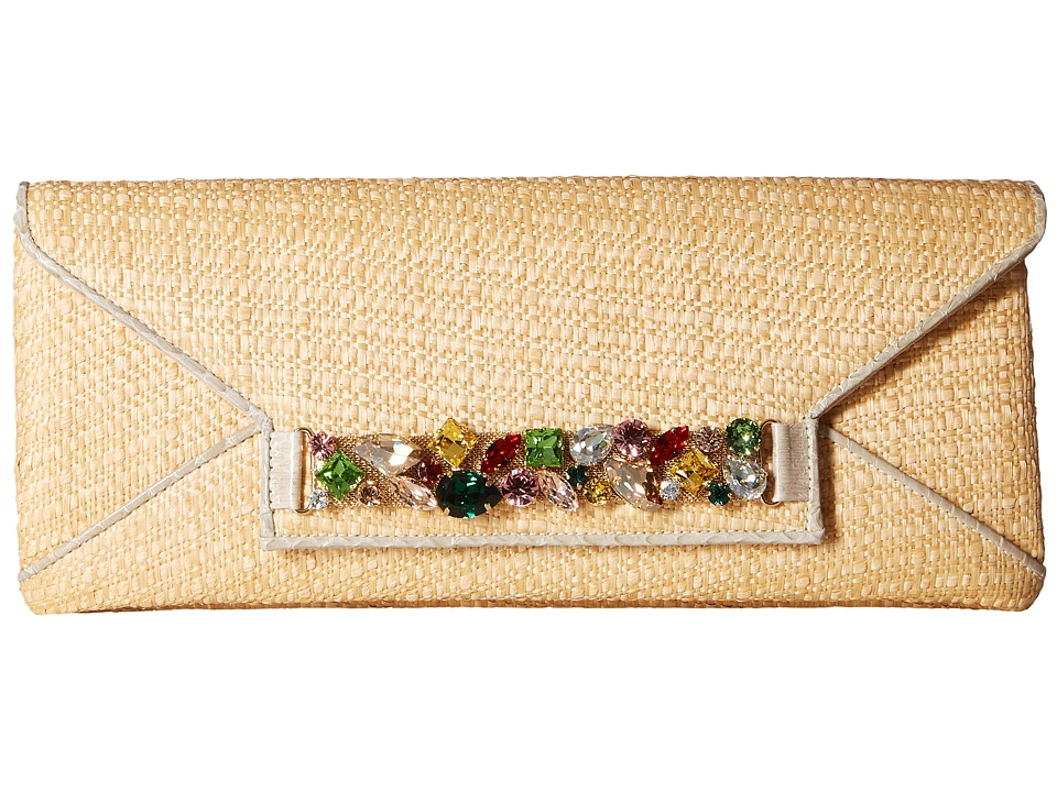 Oscar de la Renta - Envelope Clutch (Natural Raffia) Clutch Handbags
