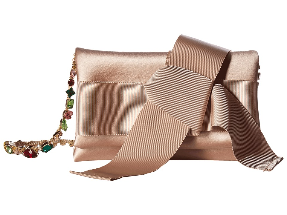 Oscar de la Renta - Petite Evening (Nude Satin/Grosgrain) Handbags
