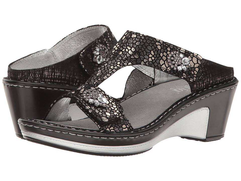 Alegria - Lara (Pewter Mosaic) Women's Wedge Shoes