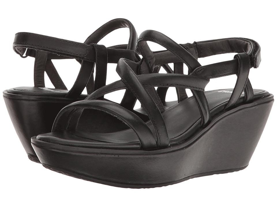 Camper - Damas - K200082 (Black 1) Women's Wedge Shoes