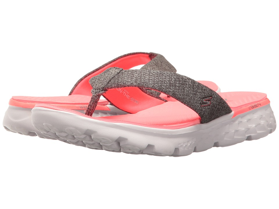 SKECHERS Performance - On-The-Go 400 - Vivacity (Charcoal/Hot Pink) Women's Sandals
