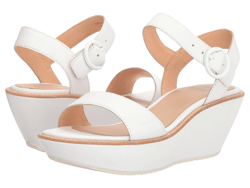 Camper - Damas - 21923 (White) Women's Wedge Shoes