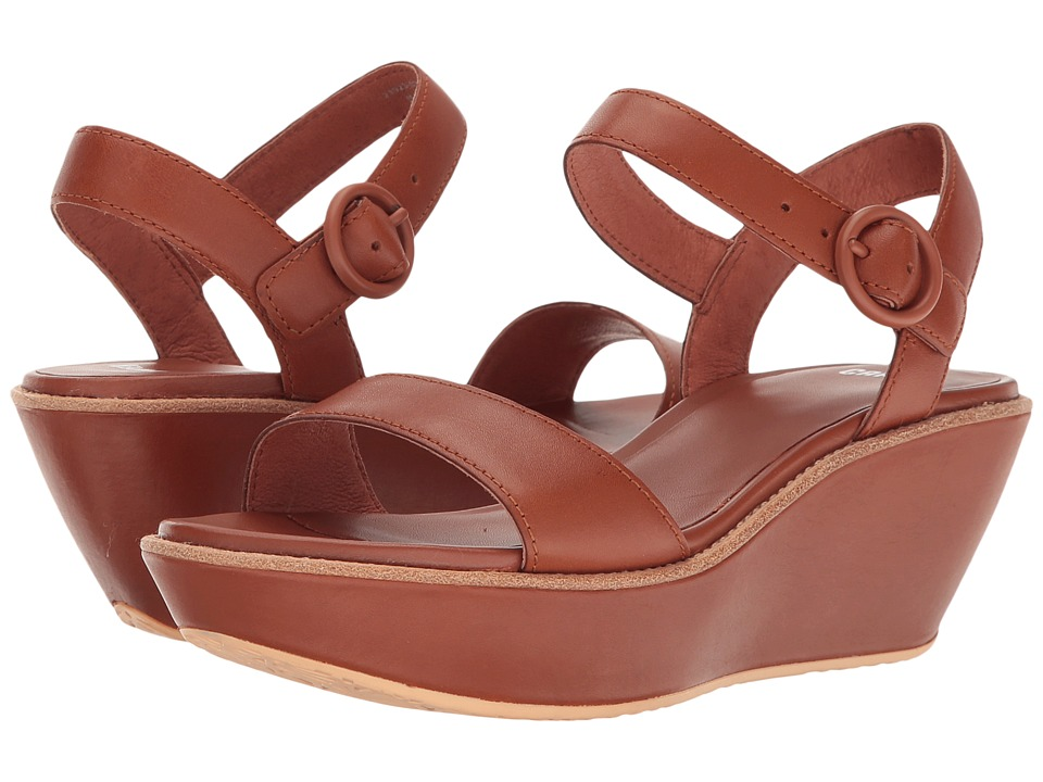 Camper - Damas - 21923 (Medium Brown) Women's Wedge Shoes