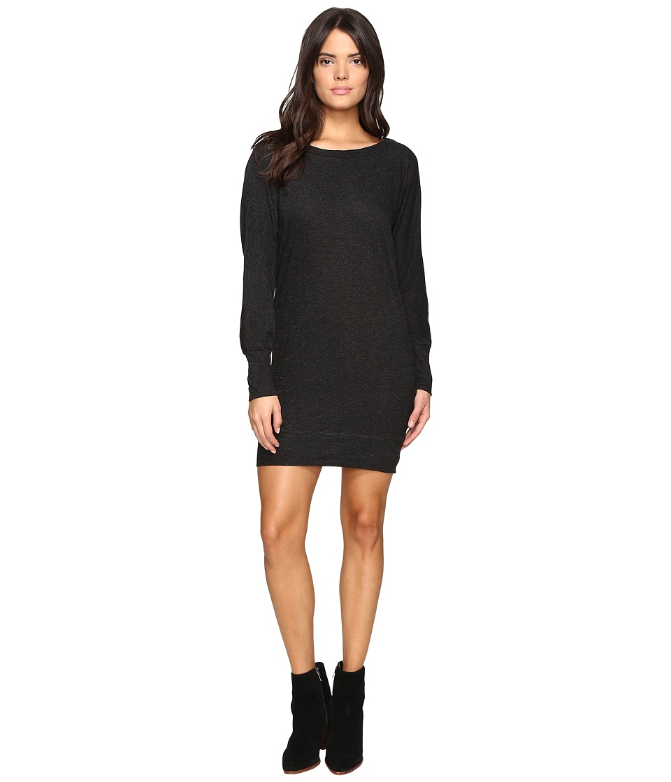 Lanston - Boyfriend Mini Dress (Black) Women's Dress