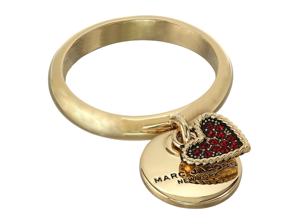 Marc Jacobs - MJ Coin Charm Ring (Red) Ring
