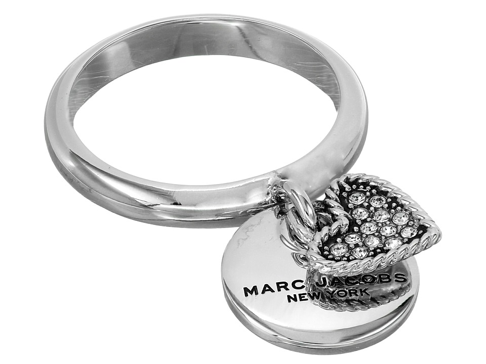 Marc Jacobs - MJ Coin Charm Ring (Crystal/Silver) Ring