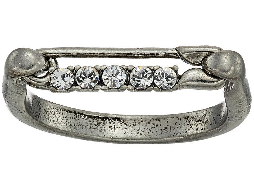 Marc Jacobs - Safety Pin Strass Ring (Crystal/Antique Silver) Ring