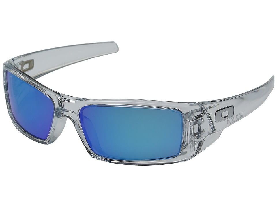 Oakley - GasCan (Polished Clear w/ Sapphire Iridium) Sport Sunglasses