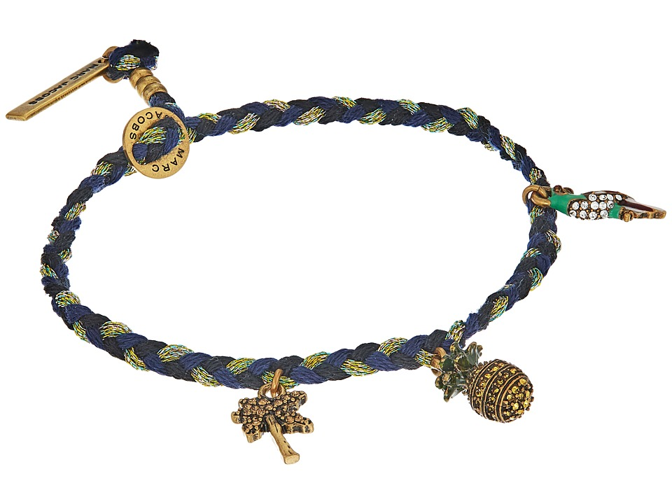 Marc Jacobs - Charms Tropical Pineapple Friendship Bracelet (Blue Multi) Bracelet