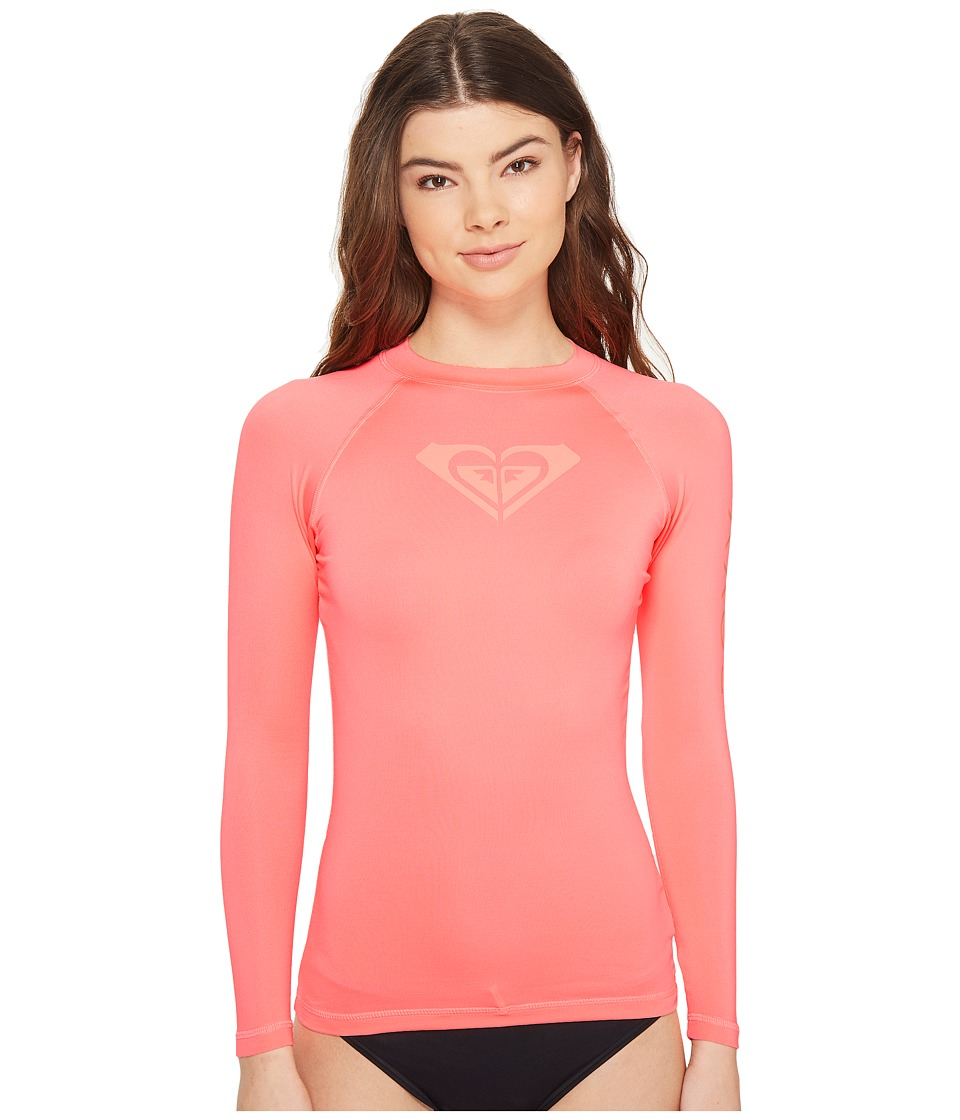 Roxy - Whole Hearted Long Sleeve Rashguard (Lady Pink) Women's Swimwear