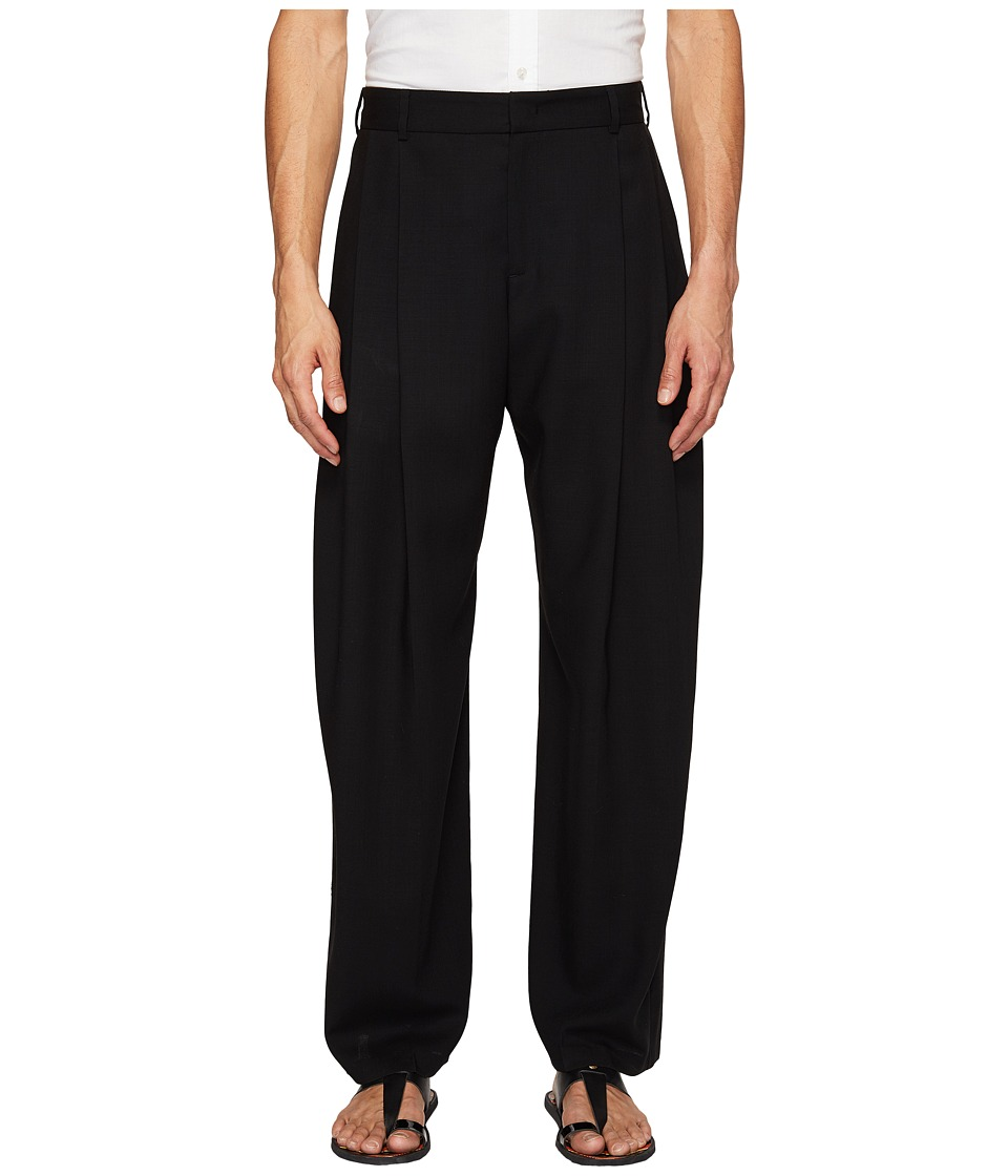 McQ - Kilt Pleat Trousers (Darkest Black) Men's Casual Pants