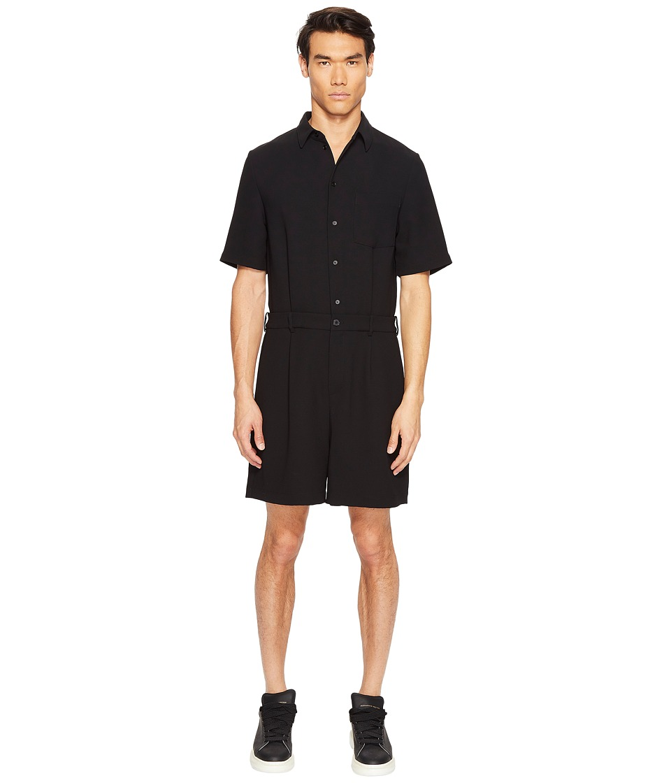 McQ - MCQ Jumpsuit (Darkest Black) Men's Jumpsuit & Rompers One Piece