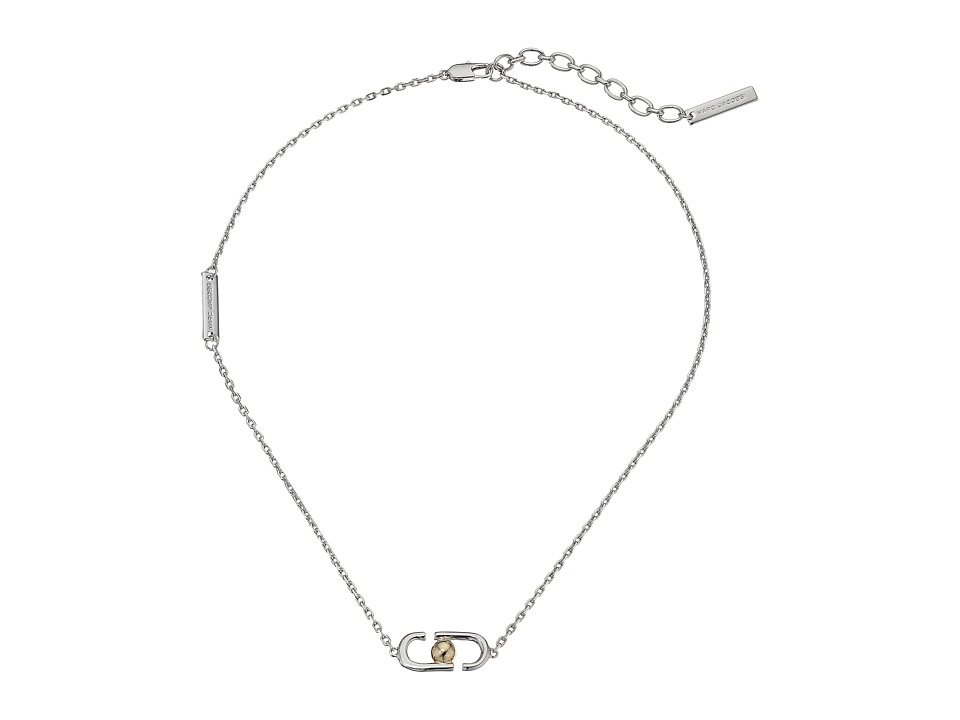 Marc Jacobs - Icon Short Pendant Necklace (Silver Multi) Necklace
