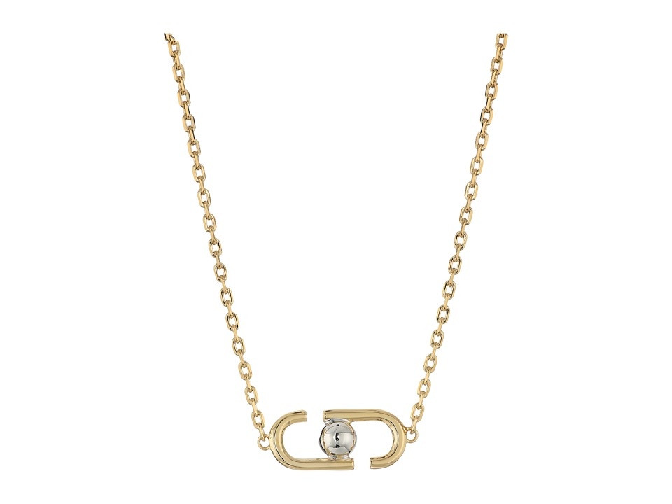 Marc Jacobs - Icon Short Pendant Necklace (Gold Multi) Necklace