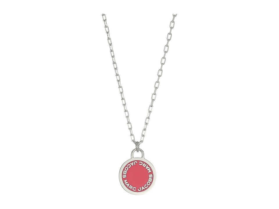 Marc Jacobs - Logo Disc Enamel Logo Disc Pendant Necklace (Pink) Necklace
