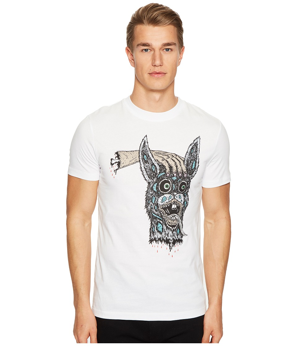 McQ - Hand/Bunny T-Shirt (Optic White) Men's T Shirt