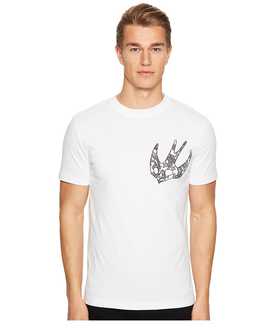 McQ - Printed Swallow T-Shirt (Optic White) Men's T Shirt