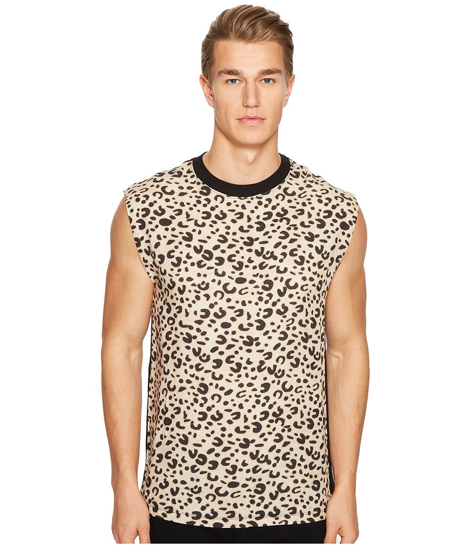 McQ - Sleeveless Leopard Tee (Leopard) Men's Sleeveless