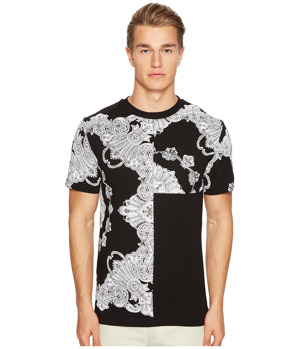 McQ - Scarf Print T-Shirt (Darkest Black) Men's T Shirt
