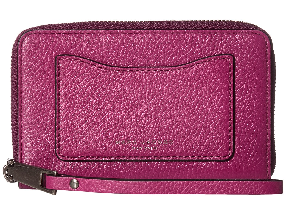 Marc Jacobs - Recruit Zip Phone Wristlet (Wild Berry) Wristlet Handbags