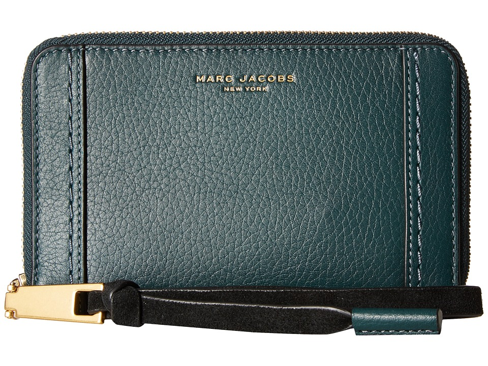 Marc Jacobs - Maverick Zip Phone Wristlet (Cypress) Wristlet Handbags