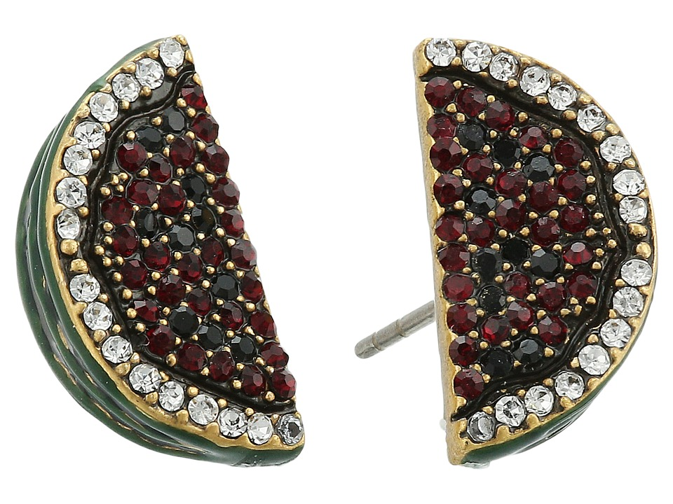 Marc Jacobs - Charms Tropical Watermelon Studs Earrings (Red Multi) Earring