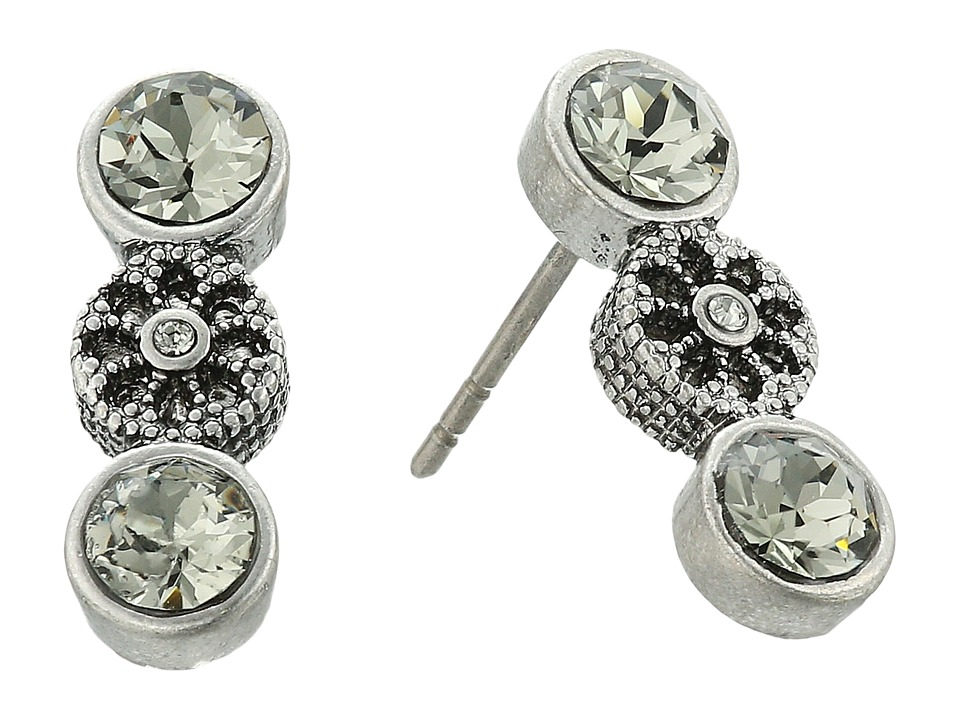 Marc Jacobs - Daisy Grommet Studs Earrings (Crystal/Antique Silver) Earring