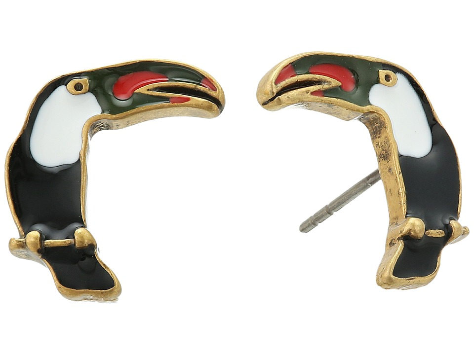 Marc Jacobs - Charms Tropical Toucan Studs Earrings (Black Multi) Earring