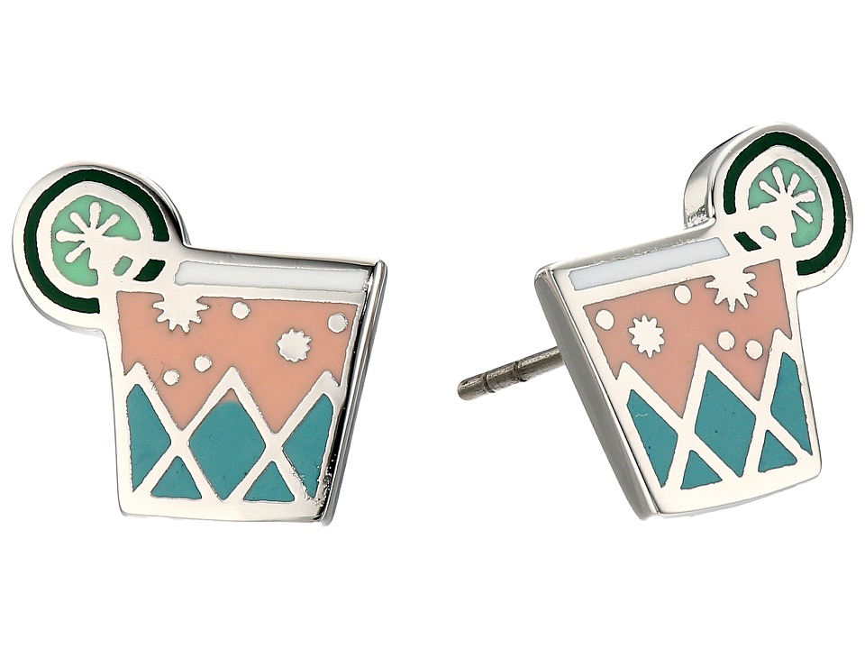Marc Jacobs - Charms Paradise Cocktail Studs Earrings (Pink Multi) Earring