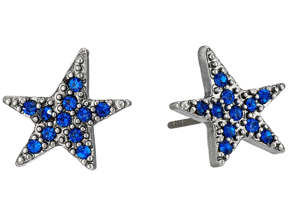 Marc Jacobs - Charms Paradise Star Studs Earrings (Blue) Earring