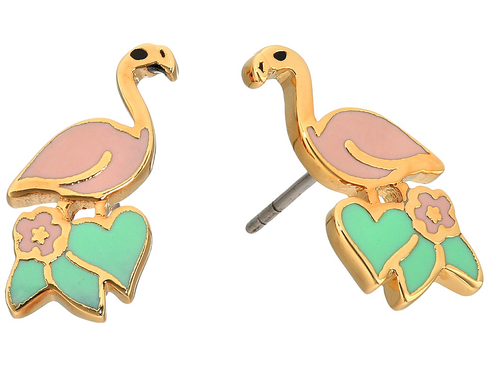 Marc Jacobs - Charms Paradise Flamingo Studs Earrings (Pink Multi) Earring