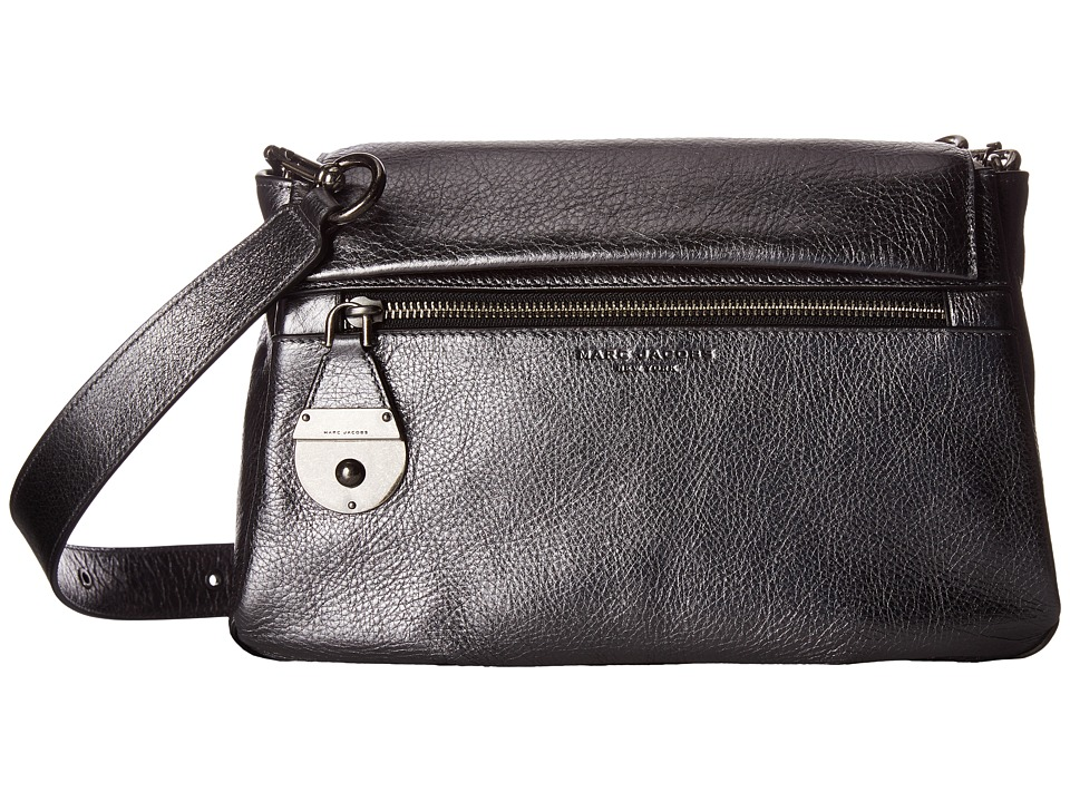 Marc Jacobs - The Standard Metallic Shoulder Bag (Anthracite) Shoulder Handbags