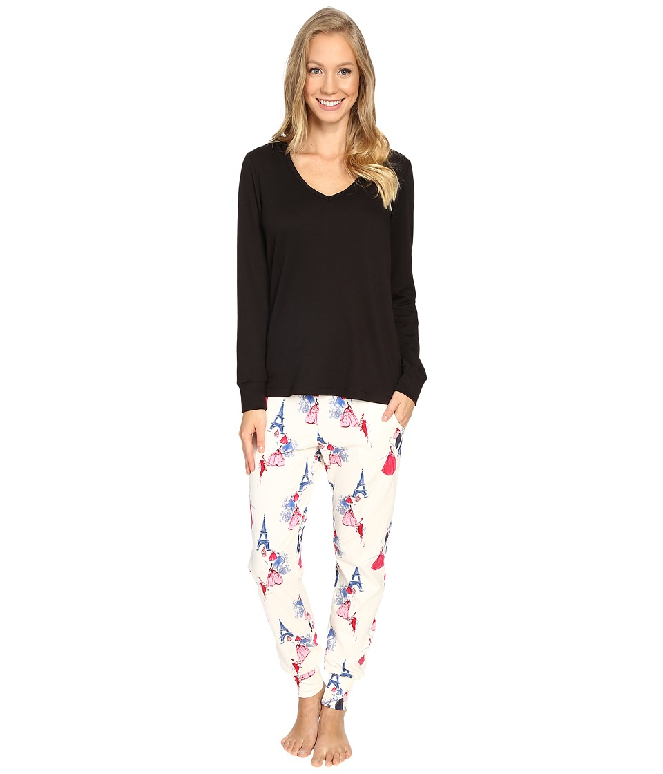BedHead - French Terry Long Sleeve Hoodie and Jogger Pants Set (Grand Canal) Women's Pajama Sets