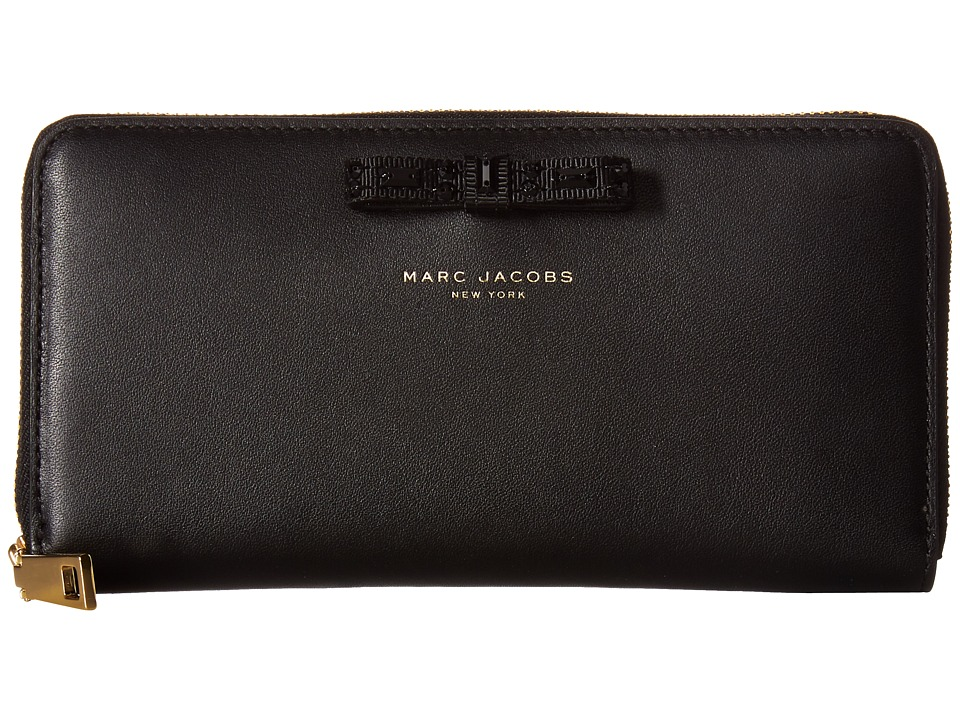 Marc Jacobs - Bow Standard Continental Wallet (Black) Continental Wallet