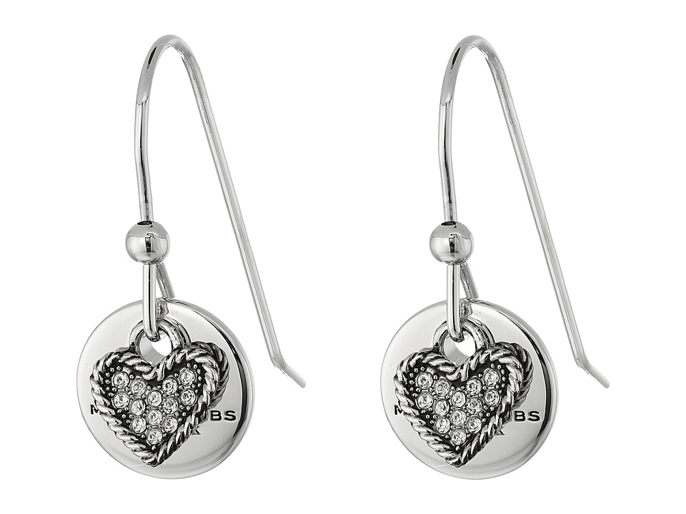 Marc Jacobs - MJ Coin Earrings (Crystal/Silver) Earring