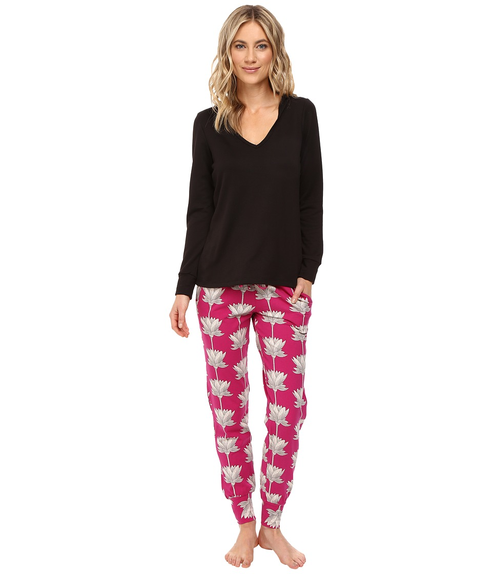 BedHead - French Terry Long Sleeve Hoodie and Jogger Pants Set (Lotus Land) Women's Pajama Sets