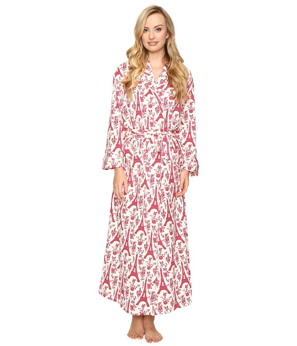 BedHead - Full Length Robe (Pointsettia Eiffel) Women's Robe
