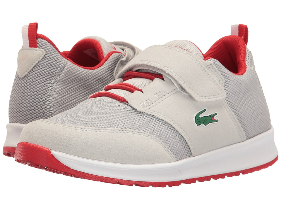 Lacoste Kids - L.ight 117 1 SP17 (Little Kid) (Light Grey/Red) Kids Shoes