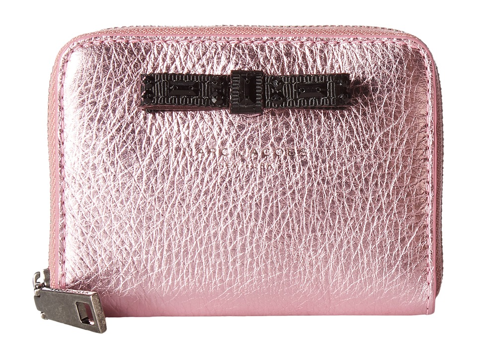 Marc Jacobs - Metallic Bow Zip Card Case (Pink) Credit card Wallet
