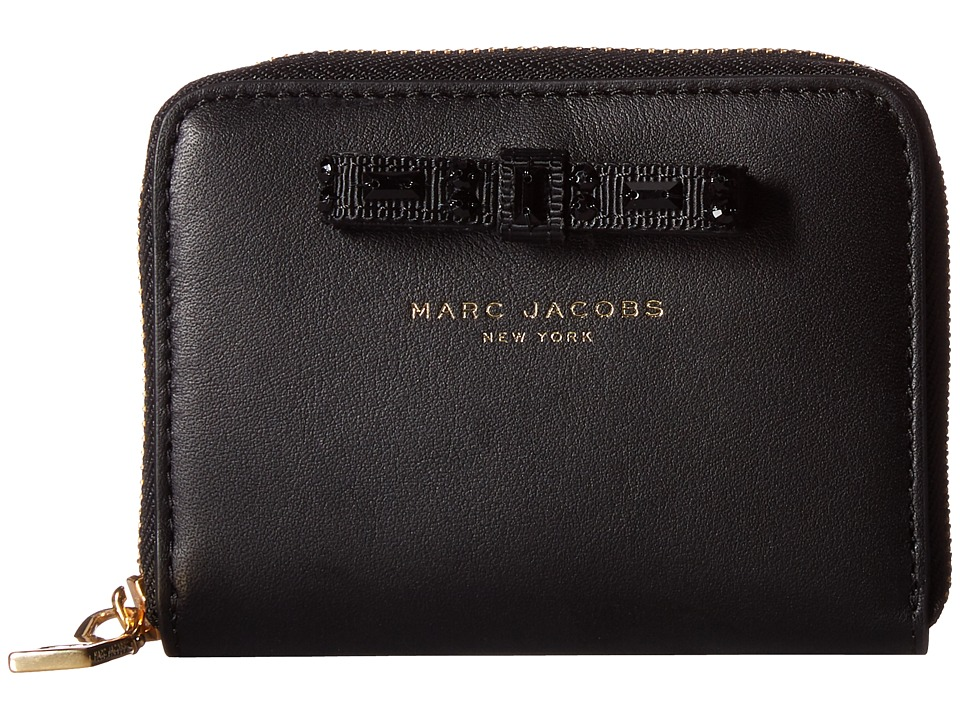Marc Jacobs - Bow Zip Card Case (Black) Credit card Wallet
