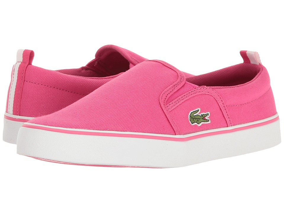 Lacoste Kids Gazon 117 1 SP17 (Little Kid/Big Kid) (Pink) Girls Shoes